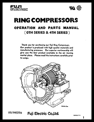 Fuji Electronic O&M Manual for Ring Compressors - 0th and 4th Series